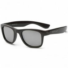 Детские солнцезащитные очки Koolsun черные серии Wave (Розмір: 1+) (KS-WABO001)