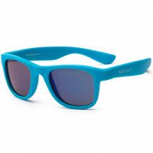 Детские солнцезащитные очки Koolsun неоново-голубые серии Wave (Розмір: 3+) (KS-WANB003)