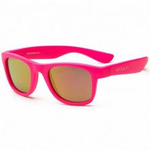 Детские солнцезащитные очки Koolsun неоново-розовые серии Wave (Розмір: 1+) (KS-WANP001)
