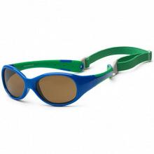 Детские солнцезащитные очки Koolsun сине-зеленые серии Flex (Розмір: 3+) (KS-FLRS003)