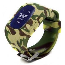 Детские GPS часы-телефон GOGPS ME K50 Хаки (K50KK)
