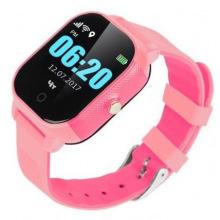 Дитячий телефон-годинник з GPS трекером GOGPS К23 рожевий (K23PK)