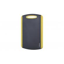 Дошка кухонная Ardesto Gemini 20*14 см, сірий/жовтий, пластик з ТПУ покриттям (AR2115PY)