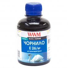 Чорнило WWM E26 Black для Epson 200г (E26/BP) пігментне