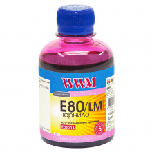 Чернила WWM E80 Light Magenta для Epson 200г (E80/LM) водорастворимые