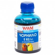 Чернила WWM E82 Light Cyan для Epson 200г (E82/LC) водорастворимые