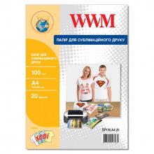 Фотобумага Сублимационная WWM 100Г/м кв, А4, 20л (SP100.А4.20)
