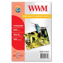 Фотобумага WWM глянцевая 200Г/м кв, 10х15см, 100л (G200.F100/C)