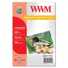 Фотобумага WWM глянцевая 225Г/м кв, 10х15см, 100л (G225.F100/C)