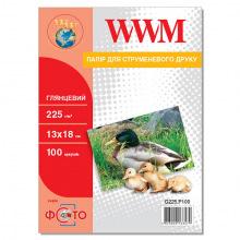 Фотобумага WWM глянцевая 225Г/м кв, 13х18см, 100л (G225.P100)