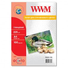 Фотобумага WWM глянцевая 225Г/м кв, А4, 100л (G225.100)