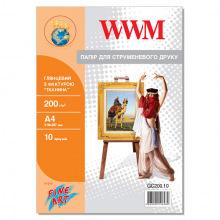 "Фотопапір WWM глянцевий ""Тканина"" 200Г/м кв, А4, 10л (GC200.10)"