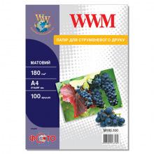 Фотобумага WWM матовая 180Г/м кв, А4, 100л (M180.100)