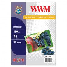 Фотобумага WWM матовая 180Г/м кв, А4, 50л (M180.50)