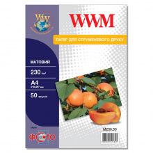 Фотобумага WWM матовая 230Г/м кв, А4, 50л (M230.50)
