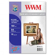"""Фотопапір WWM матовий """"Перлина"""" 190Г/м кв, А4, 10л (MP190.10)"""
