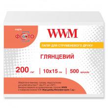 Фотобумага WWM глянцевая 200Г/м кв, 10х15см, 500л (G200.F500)