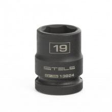 Головка утакрная шестигранная, 19 мм, 1/2, CrMo Stels (MIRI13924)