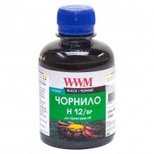 Чернила WWM H12 Black для HP 200г (H12/BP) пигментные