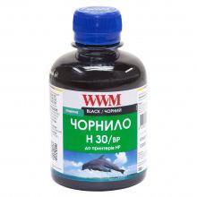Чорнило WWM H30 Black для HP 200г (H30/BP) пігментне