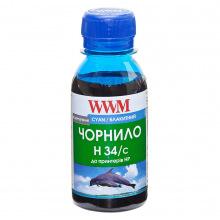 Чорнило WWM H34 Cyan для HP 100г (H34/C-2) водорозчинне