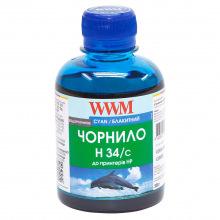 Чорнило WWM H34 Cyan для HP 200г (H34/C) водорозчинне