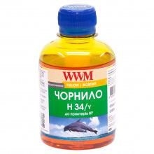 Чорнило WWM H34 Yellow для HP 200г (H34/Y) водорозчинне