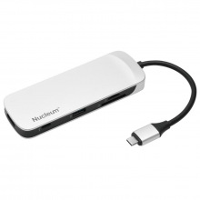 USB-Концентратор Kingston Nucleum USB-C : USB 3.0/HDMI/SD/microSD/Power Pass through/Type-C ports (C-HUBC1-SR-EN)