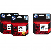 HP 650 Black x 2 + HP 650 Color Набір Картриджів (Set650BBC)