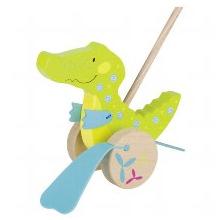 Игрушка-каталка goki Крокодил (54911G)