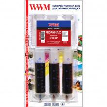 Набір для Заправки Картриджів WWM для Canon PG-510/PG-512 (3 x 20мл) Black Pigmented (IR3.C10/BP)
