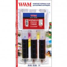 Набір для Заправки Картриджів WWM CARMEN для Canon (3 x 20 мл) Black (IR3.CARMEN / B)