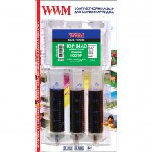 Набір для Заправки Картриджів WWM для HP №21/121/122 (3 x 20мл) Black Pigmented (IR3.H30/BP)