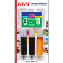 Набір для Заправки Картриджів WWM для HP №22/121/141 (3х20мл) C/M/Y (IR3.H34/C)
