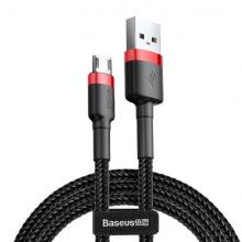 Кабель Baseus Сafule USB to Micro 2.4A, 1м, red+black (CAMKLF-B91)
