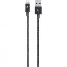 Кабель BELKIN MIXIT PREMIUM METALLIC Lightning to USB (2.4A), 1.2m, black (F8J144BT04-BLK)