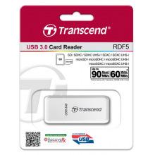Кардрідер Transcend USB 3.0 microSD/SD White (TS-RDF5W)