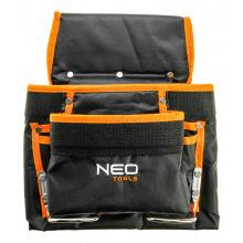 Карман для инструмента NEO, 8 гнезд, металлические петли (84-334)