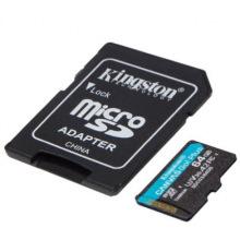 Карта пам'яті Kingston 64GB microSDXC C10 UHS-I U3 A2 R170/W90MB/s Canvas Go Plus + SD адаптер (SDCG3/64GB)