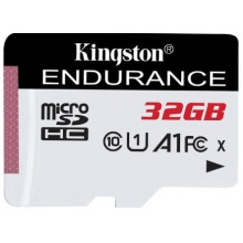 Карта пам'яті Kingston 32GB microSDHC C10 UHS-I R90/W45MB/s High Endurance (SDCE/32GB)