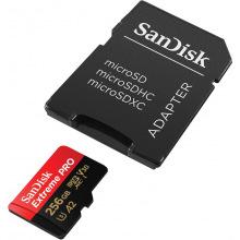 Карта пам'ятi SanDisk 256GB microSDXC C10 UHS-I U3 R170/W90MB/s Extreme Pro V30 + SD (SDSQXCZ-256G-GN6MA)