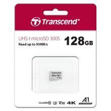Карта пам'яті Transcend 128GB microSDXC C10 UHS-I R95/W45MB/s (TS128GUSD300S)