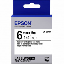 Картридж Epson LK-2WBN Standart Black/White 6mm x 9m (C53S652003)