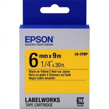 Картридж Epson LK-2YBP Pastel Black/Yellow 6mm x 9m (C53S652002)