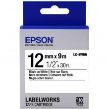 Картридж Epson LK-4WBN Standart Black/White 12mm x 9m (C53S654021)