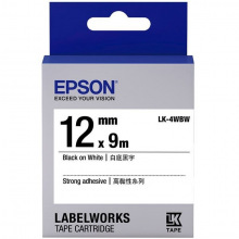 Картридж Epson LK-4WBW Strng adh Black/White 12mm x 9m (C53S654016)