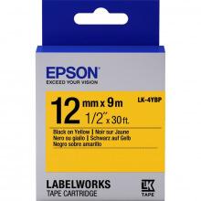 Картридж Epson LK-4YBP Pastel Black/Yellow 12mm x 9m (C53S654008)