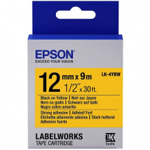 Картридж Epson LK-4YBW9 Strng adh Black/Yellow 12mm x 9m (C53S654014)