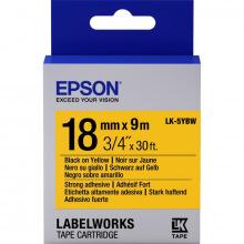 Картридж Epson LK-5YBW Strng adh Black/Yellow 18mm x 9m (C53S655010)