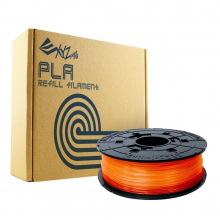 Катушка с ниткою 1.75мм/0.6кг PLA XYZprinting Filament для da Vinci, прозорий помаранчевий (RFPLBXEU07E)